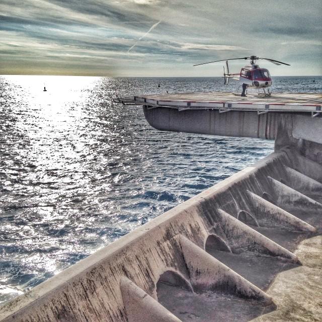 """""""Monaco Heliport"""" stock image"""