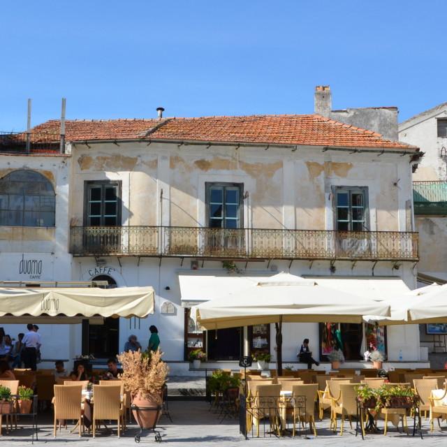"""Café in Ravello"" stock image"