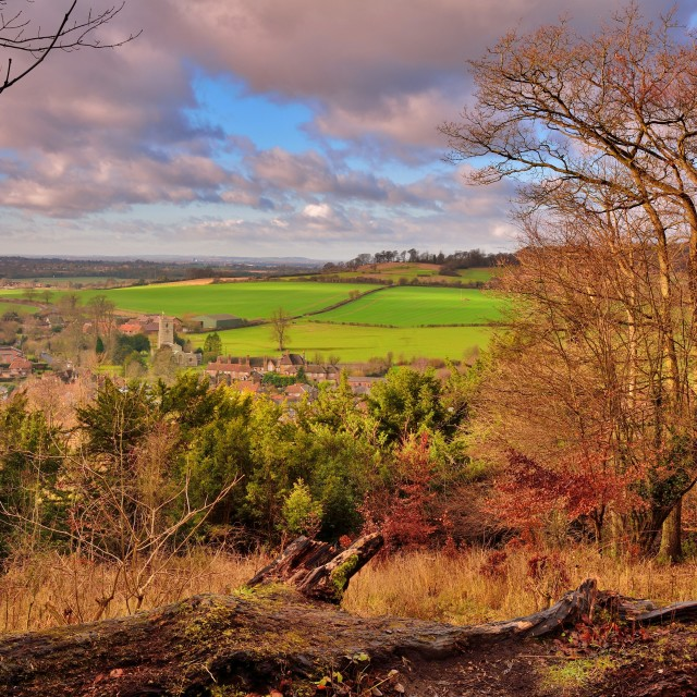 """Aldbury village in the English countryside"" stock image"