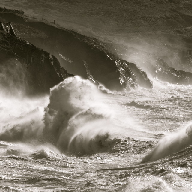 """""""The Power of the Atlantic"""" stock image"""