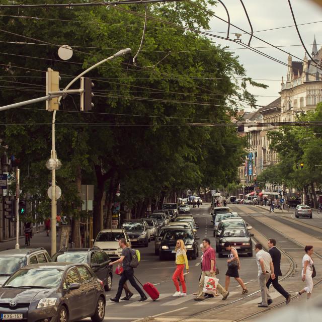 """Budapest Street Scene"" stock image"