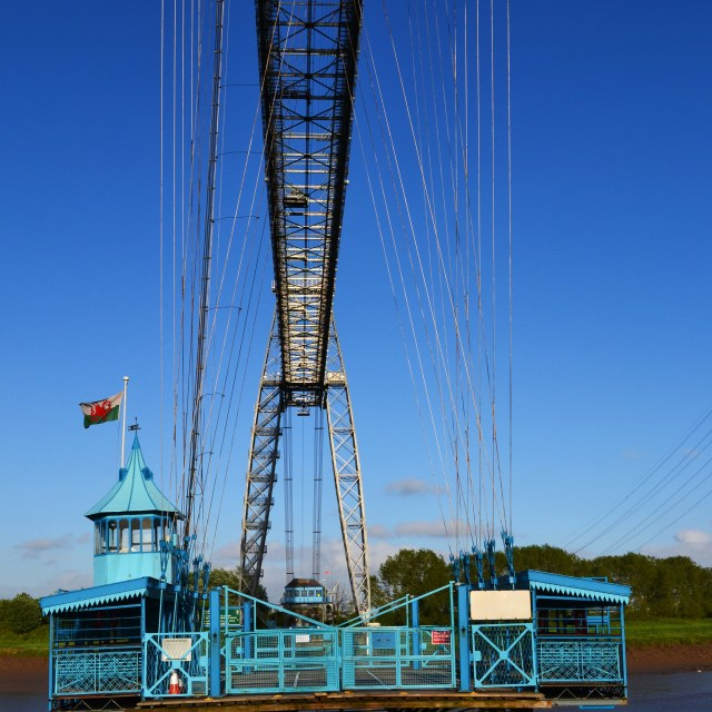 """Transporter Bridge"" stock image"