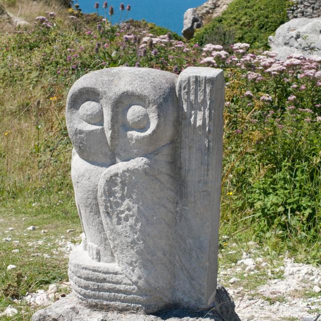 """Stone owl"" stock image"