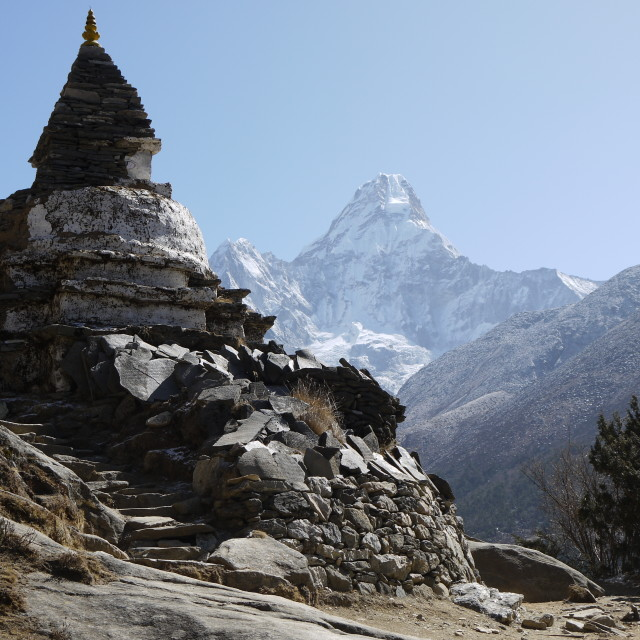 """Chorten on the Everest trek"" stock image"