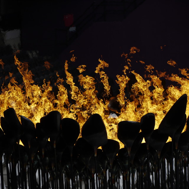 """London 2012 Olympic Flame"" stock image"