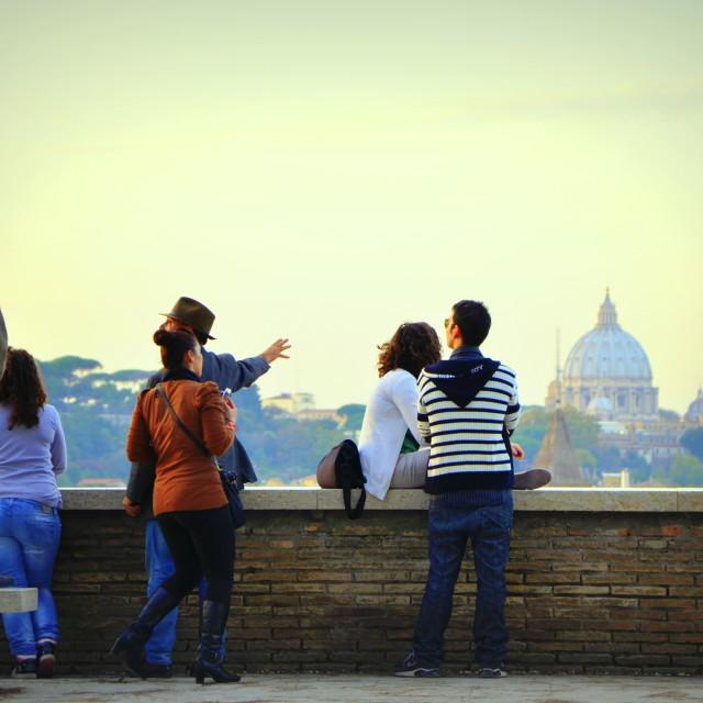 """Admiring Rome"" stock image"