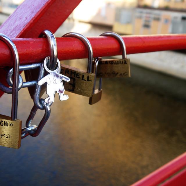 """Love Bridge, Girona"" stock image"