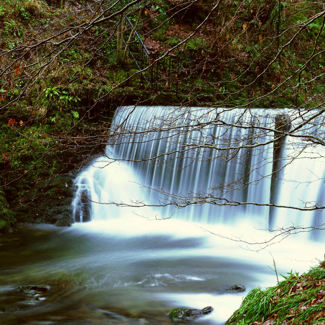 """Waterfall in Ambleside"" stock image"