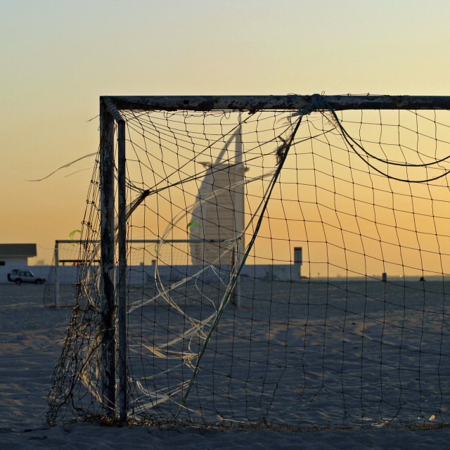 """Goal Posts"" stock image"
