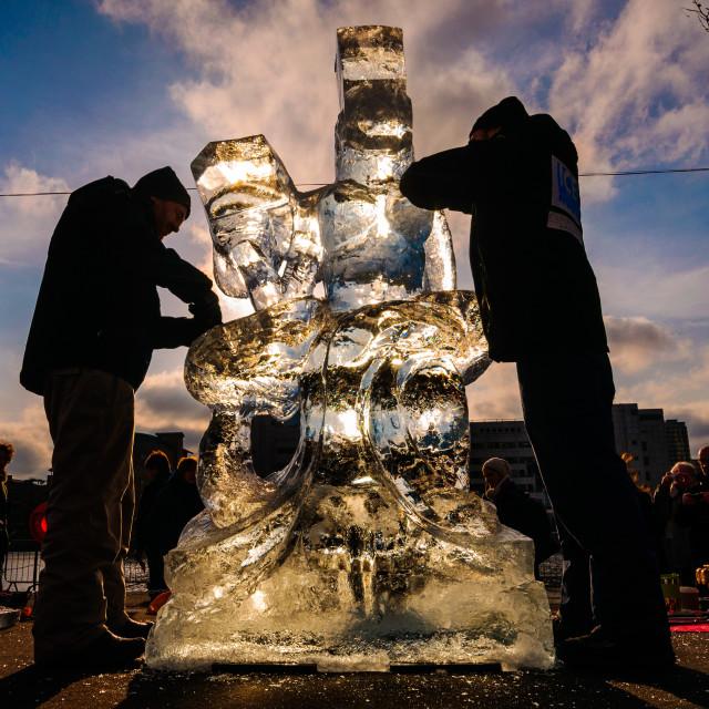 """Ice sculpture"" stock image"