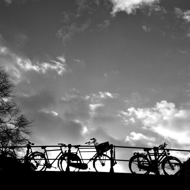 """Bridges and Bikes"" stock image"