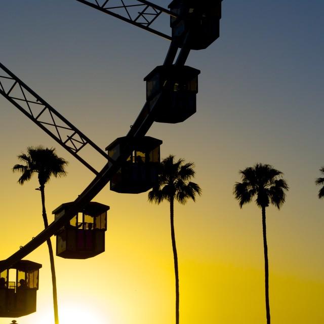 """Coachella Sunset"" stock image"