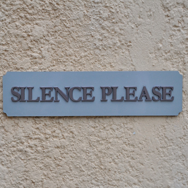 """Silence Please!"" stock image"