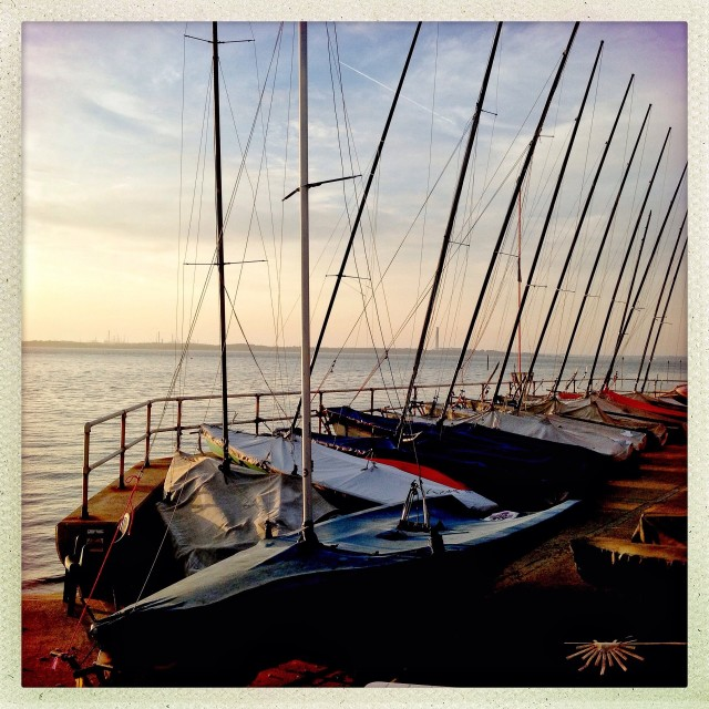 """Gurnard Boats"" stock image"