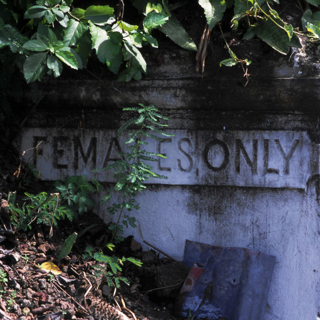 """Females only"" stock image"