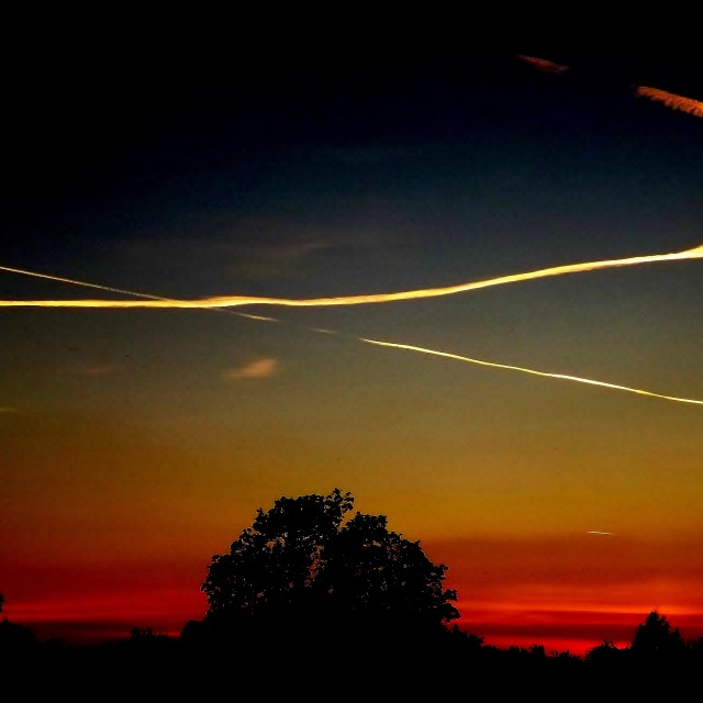 """Contrail"" stock image"