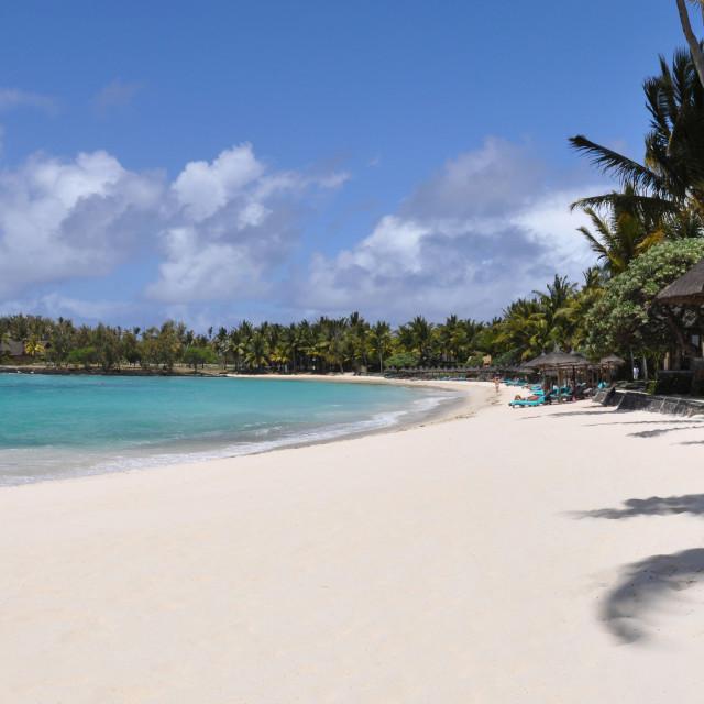 """Belle Mare Beach, Mauritius"" stock image"