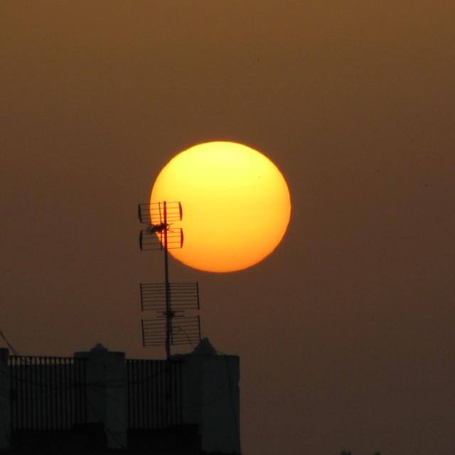 """""""Sunset in Seville"""" stock image"""