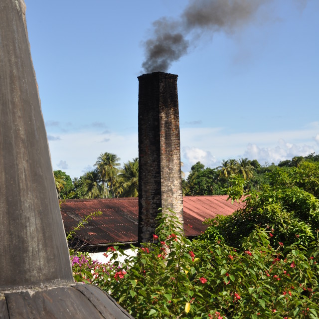 """Smokey Chimney"" stock image"