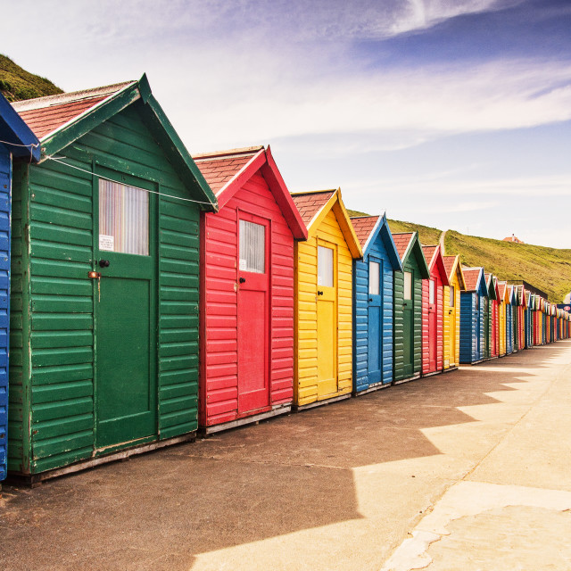 """Whitby Chalets"" stock image"