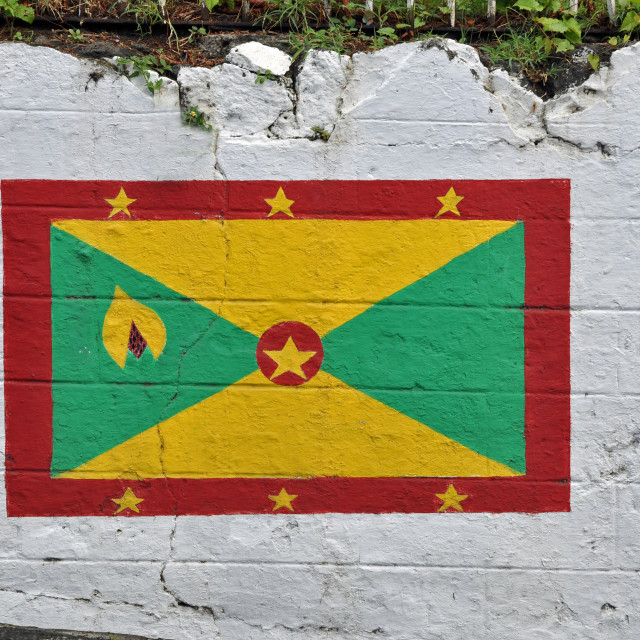 """Grenada, Caribbean, National Flag"" stock image"