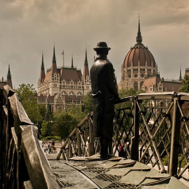 """Imre Nagy Statue"" stock image"