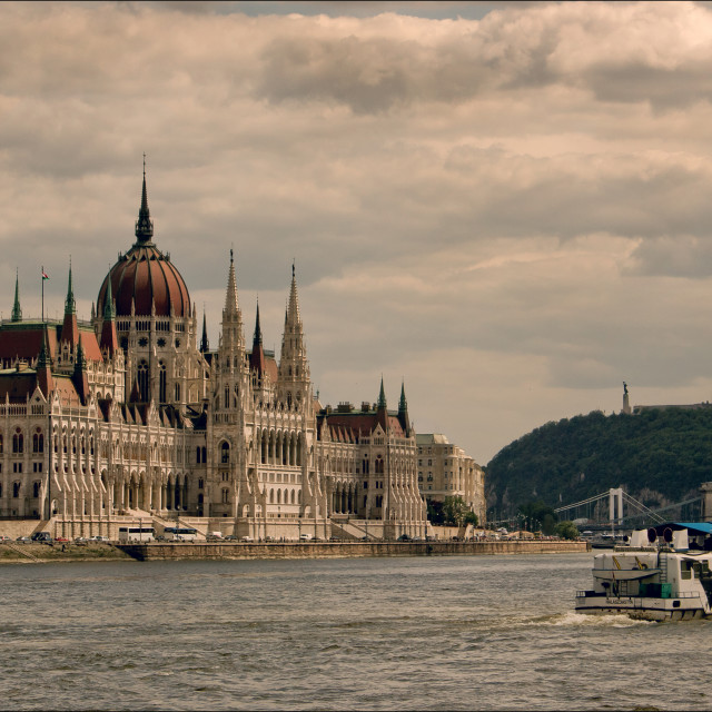 """On the Danube"" stock image"