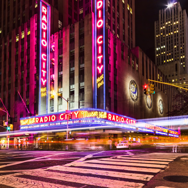 """Radio City Music Hall - New York City"" stock image"