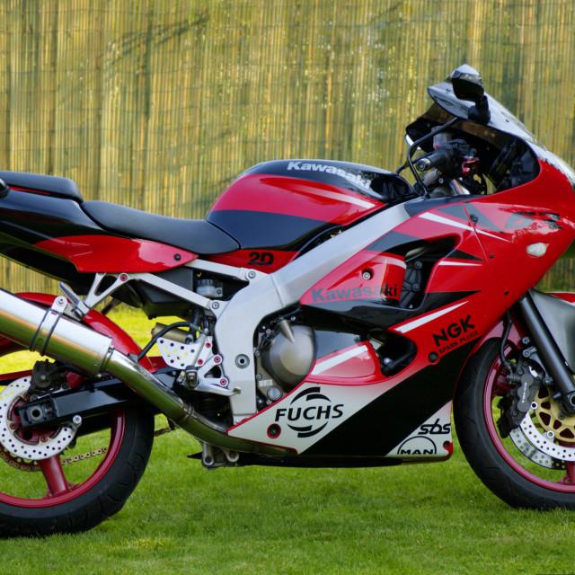 """Kawasaki Z600 Ninja"" stock image"
