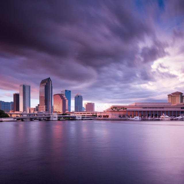 """Tampa Bay Sunset"" stock image"