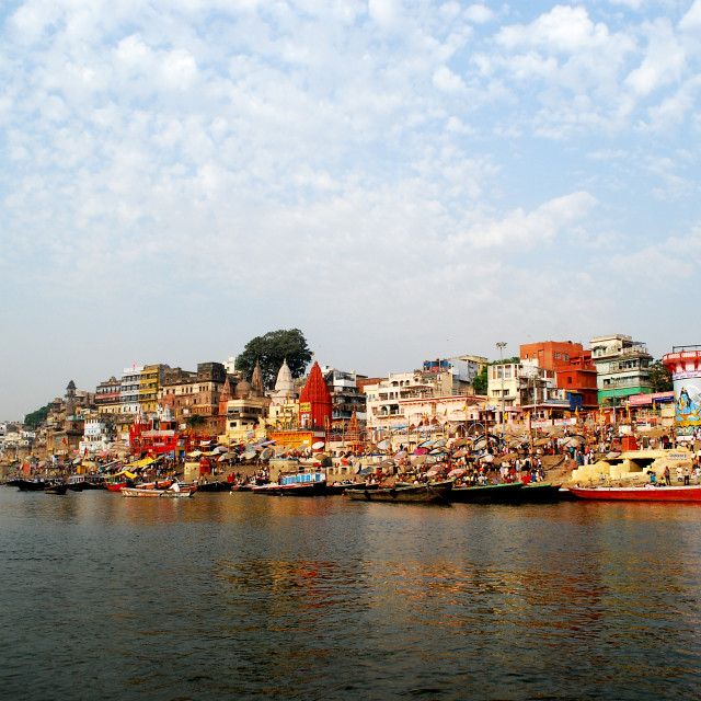 """Varanasi and the ganges"" stock image"