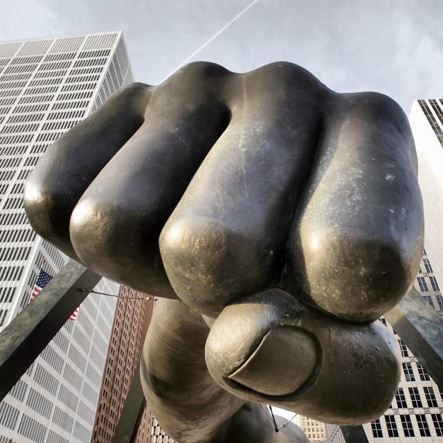 """Detroit Fist"" stock image"