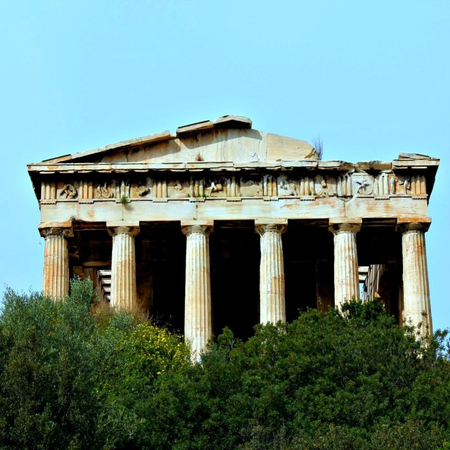 """Temple of Hephaestus"" stock image"
