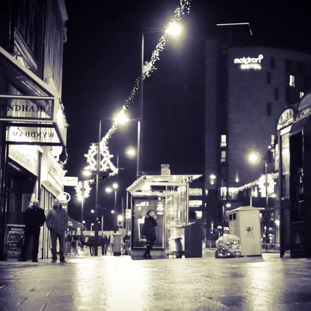 """City at night"" stock image"