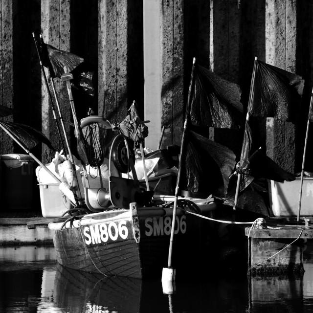 """""""Fishing boat in Brighton Marina"""" stock image"""