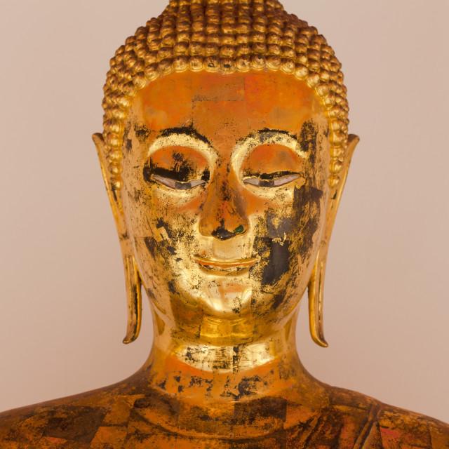 """Buddha's face"" stock image"