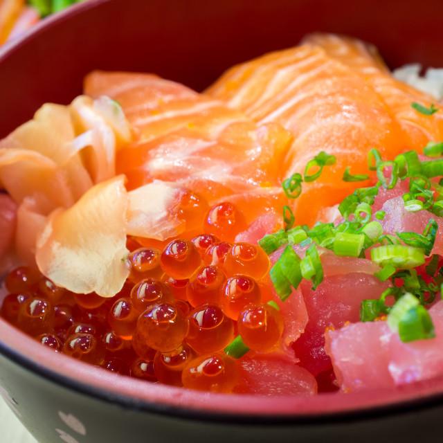 """""""Japanese shirashi"""" stock image"""