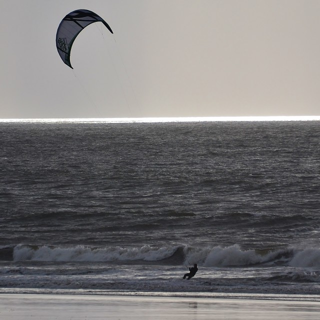 """Lone Kite Surfer"" stock image"