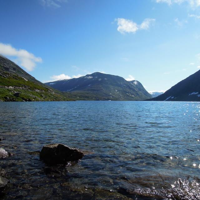 """Lake Djupvatnet, Djupvasshytta, Norway"" stock image"