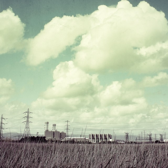 """""""Power station at uskmouth"""" stock image"""