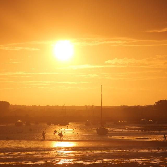 """Dorset sunset"" stock image"
