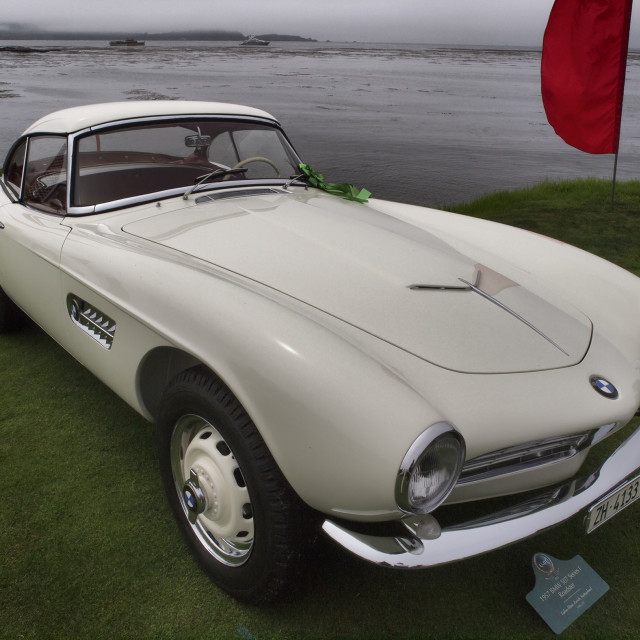"""1957 BMW 507 Series 1 Roadster"" stock image"