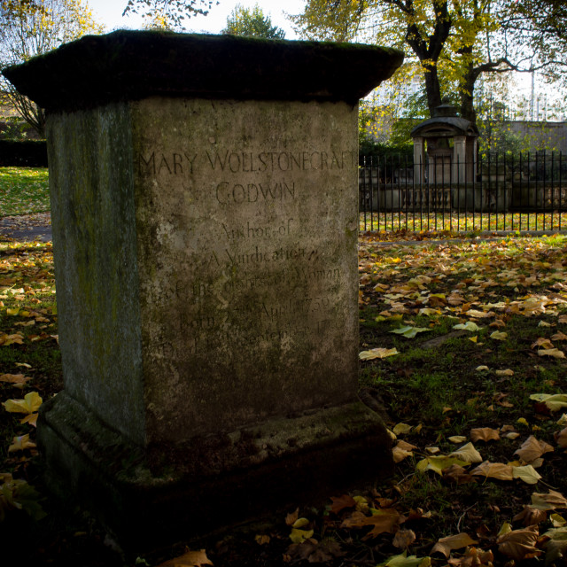 """Mary Wollstonecraft Memorial"" stock image"
