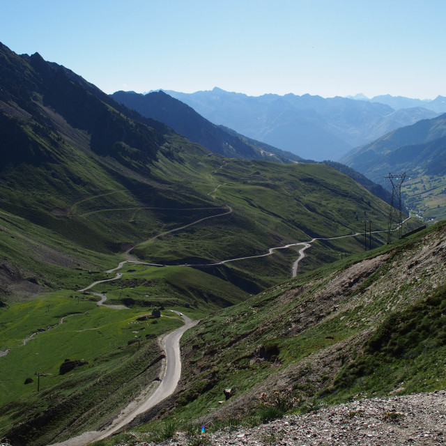 """""""Tourmalet Mountain Road"""" stock image"""
