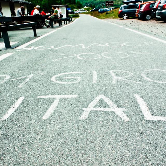 """Giro d'Italia"" stock image"