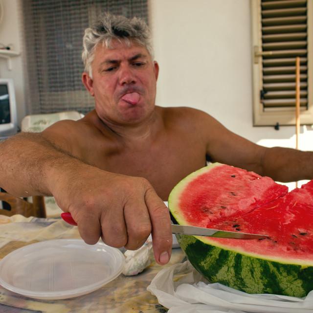 """Melon Man"" stock image"