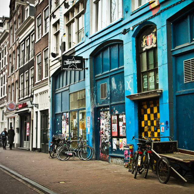 """Graffitied Spuistraat, Amsterdam"" stock image"
