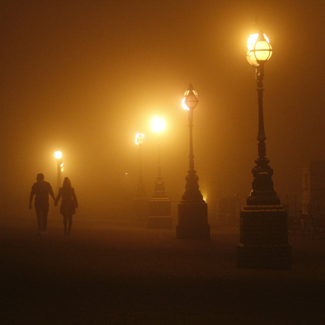 """Misty Walk"" stock image"