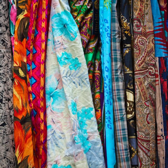 """Vintage fabrics"" stock image"