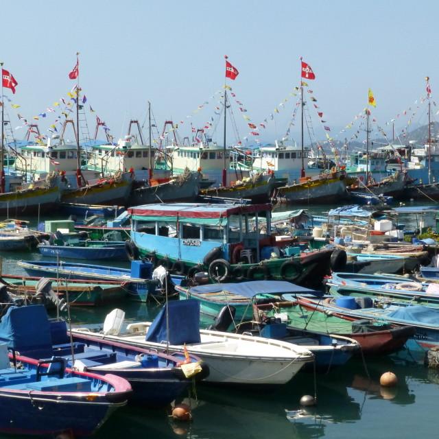 """Cheung Chau island harbour"" stock image"